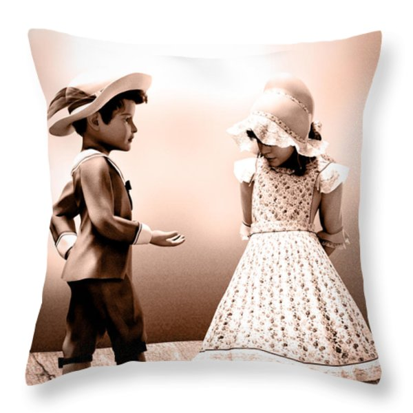 Give It Back Throw Pillow by Bob Orsillo