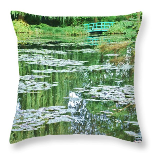 Giverny Throw Pillow by Olivier Le Queinec