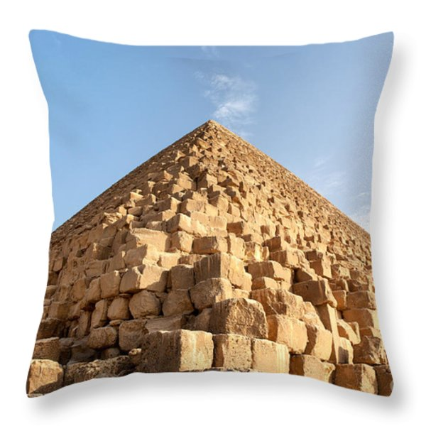 Giza pyramid detail Throw Pillow by Jane Rix