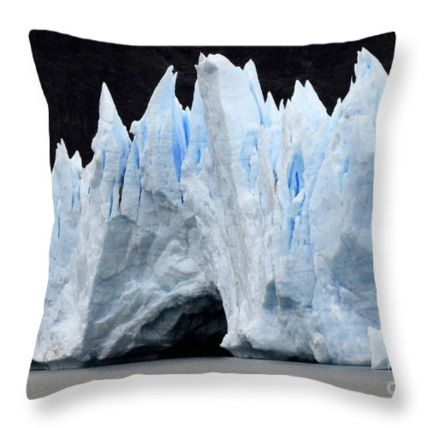 Glaciar Grey Patagonia Chile 3 Throw Pillow by Bob Christopher