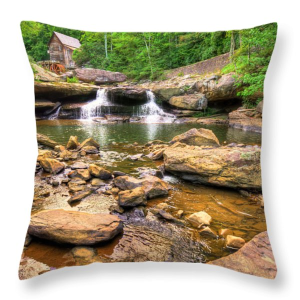 Glade Creek Mill - Beckley West Virginia Throw Pillow by Gregory Ballos