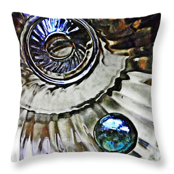 Glass Abstract 374 Throw Pillow by Sarah Loft