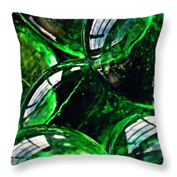 Glass Abstract 48 Throw Pillow by Sarah Loft