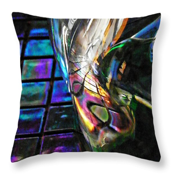 Glass Abstract 770 Throw Pillow by Sarah Loft