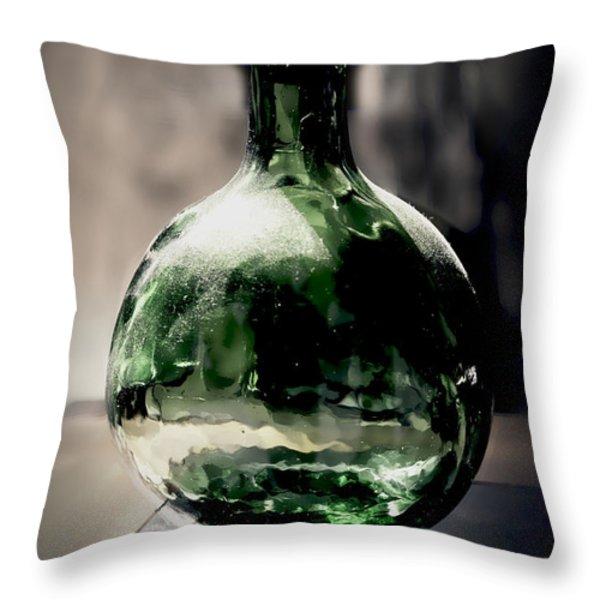Glass bottle Throw Pillow by Danuta Bennett