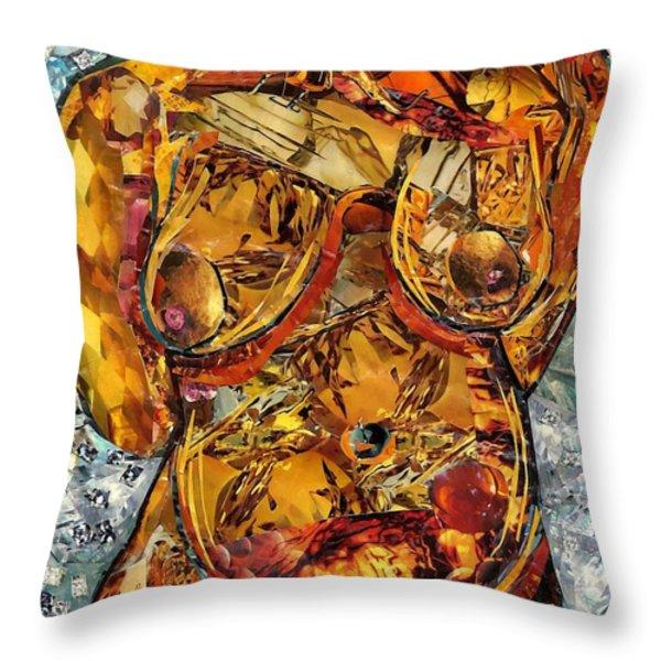 Glass Lady Throw Pillow by Sarah Loft