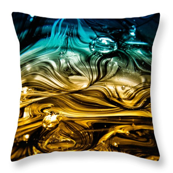 Glass Macro Abstract Rbwce Throw Pillow by David Patterson