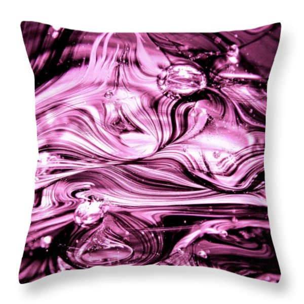 Glass Macro Abstract RBWCE1 Throw Pillow by David Patterson