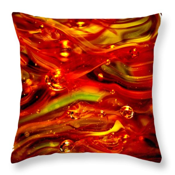 Glass Macro Abstract RF1CE Throw Pillow by David Patterson