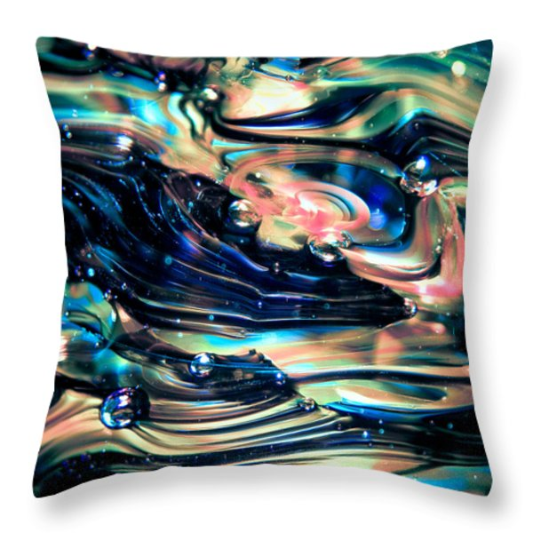 Glass Macro Abstract RPOCE Throw Pillow by David Patterson