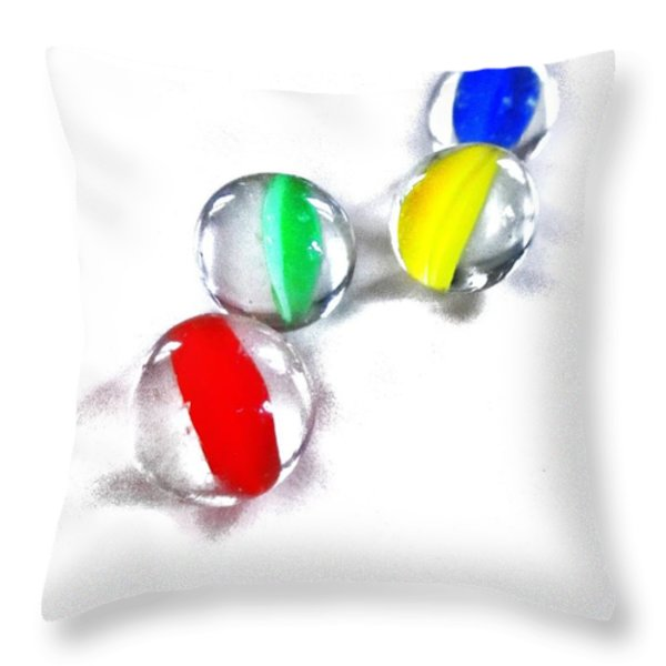 Glass Marbles Throw Pillow by Marianna Mills