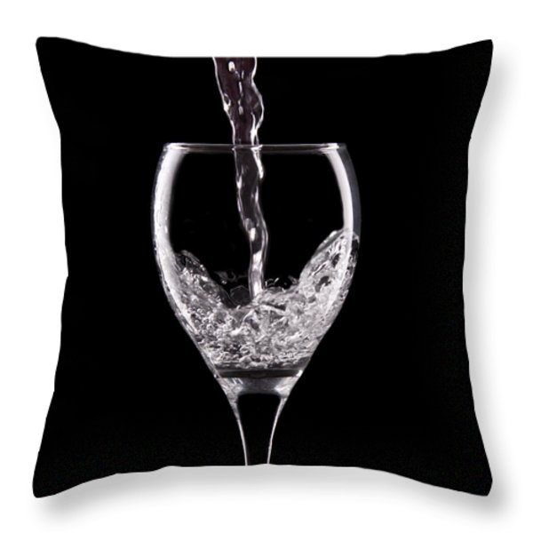 Glass Of Water Throw Pillow by Tom Mc Nemar