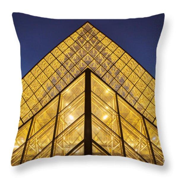 Glass Pyramid Throw Pillow by Brian Jannsen