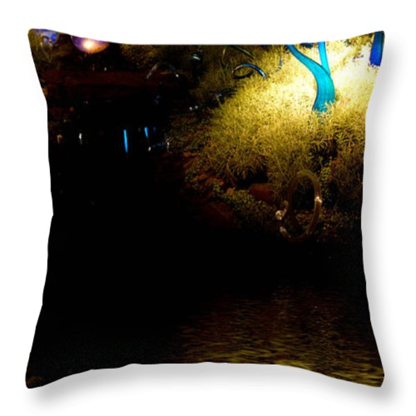 Glass Sculpture Reflections Throw Pillow by Amy Cicconi