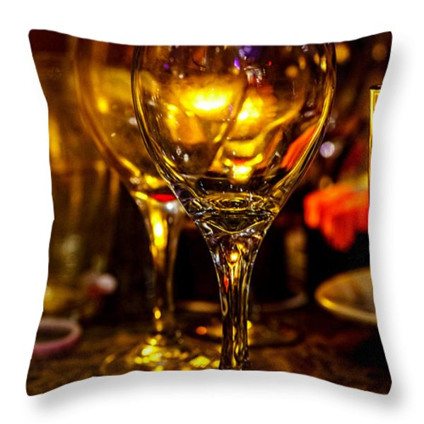 Glasses Aglow Throw Pillow by Christopher Holmes