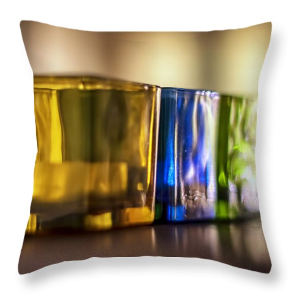 Glasses of Light Throw Pillow by Nomad Art And  Design