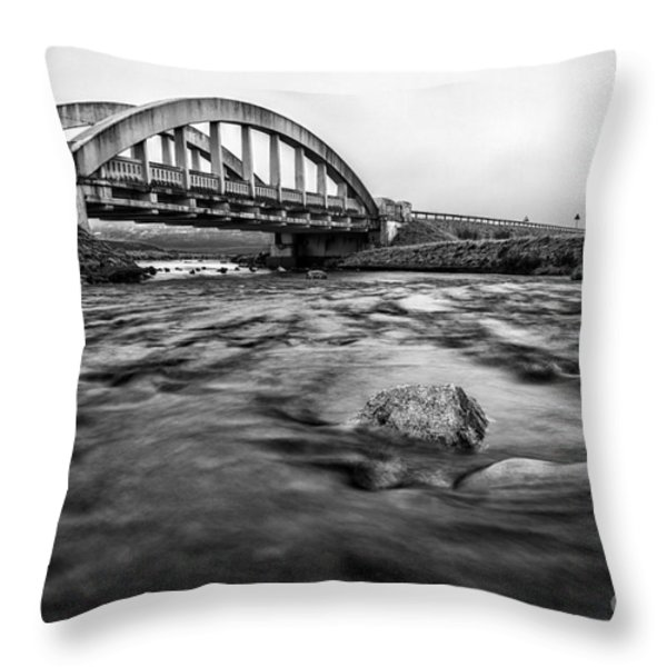 Glen Coe Bridge Throw Pillow by John Farnan