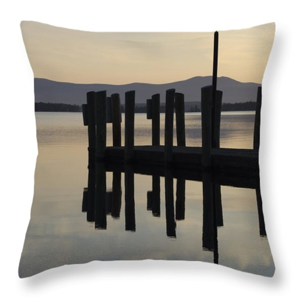 Glendale Docks No. 1 Throw Pillow by David Gordon