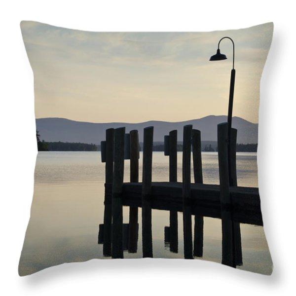 Glendale Docks No. 2 Throw Pillow by David Gordon