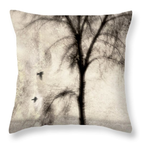 Glimpse of a Coastal Pine Throw Pillow by Carol Leigh