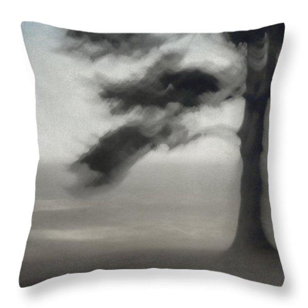Glimpse of Coastal Pine Throw Pillow by Carol Leigh