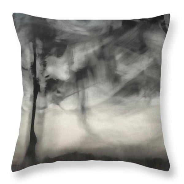 Glimpse Of Coastal Pines Throw Pillow by Carol Leigh