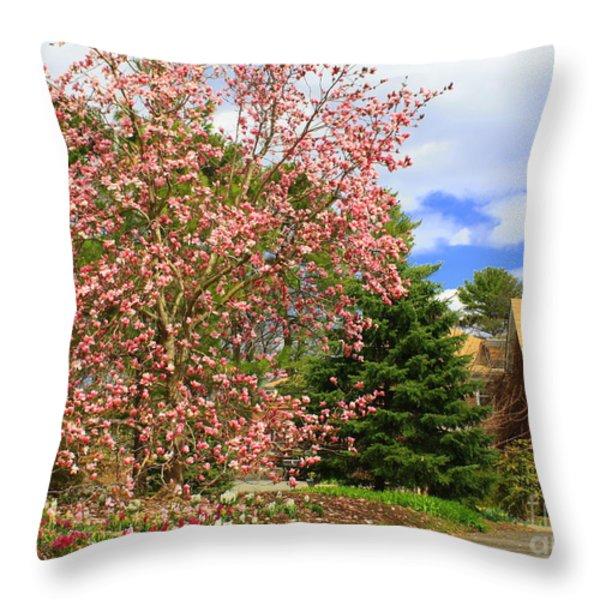Glimpses Of Spring Throw Pillow by Dora Sofia Caputo Photographic Art and Design