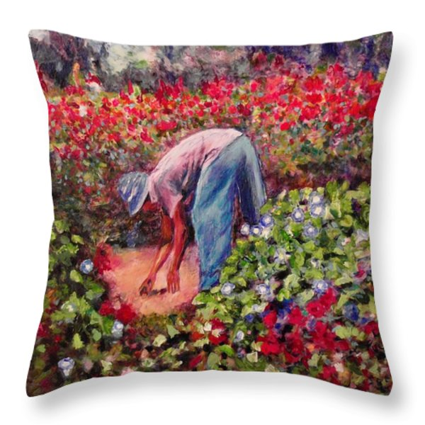 Glorious Morning Throw Pillow by Michael Durst