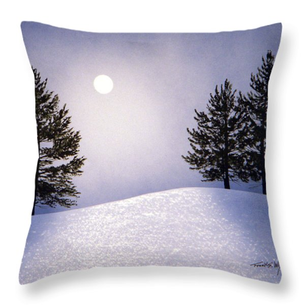 Glorious Night Throw Pillow by Frank Wilson