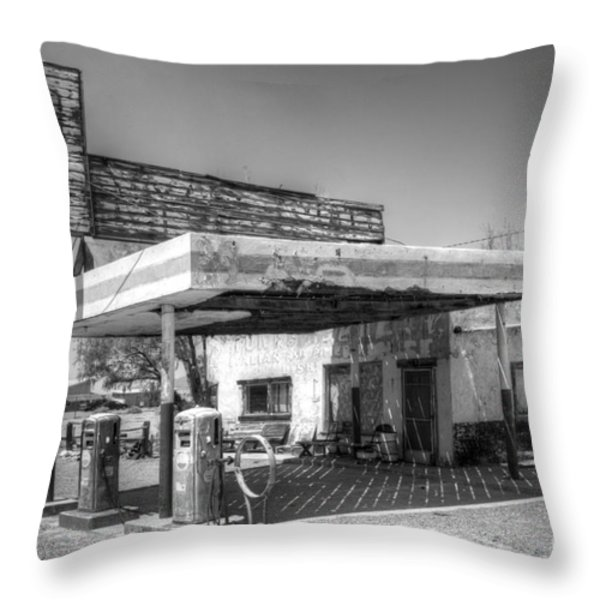 Glory Days Of Route 66 Throw Pillow by Bob Christopher