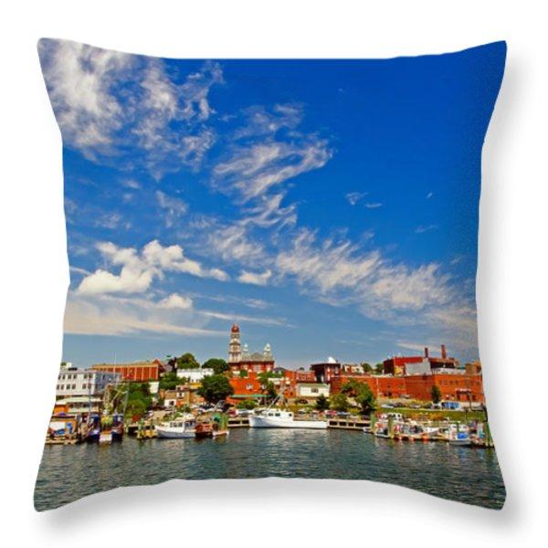 Gloucester Massachusetts Throw Pillow by Charles Dobbs