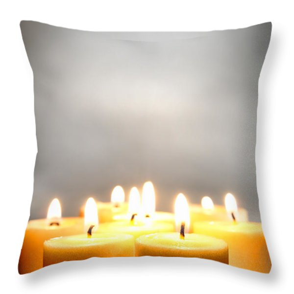 Glow And Smoke Throw Pillow by Olivier Le Queinec