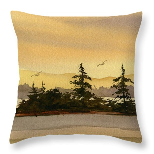 Glow Of Dawn Throw Pillow by James Williamson
