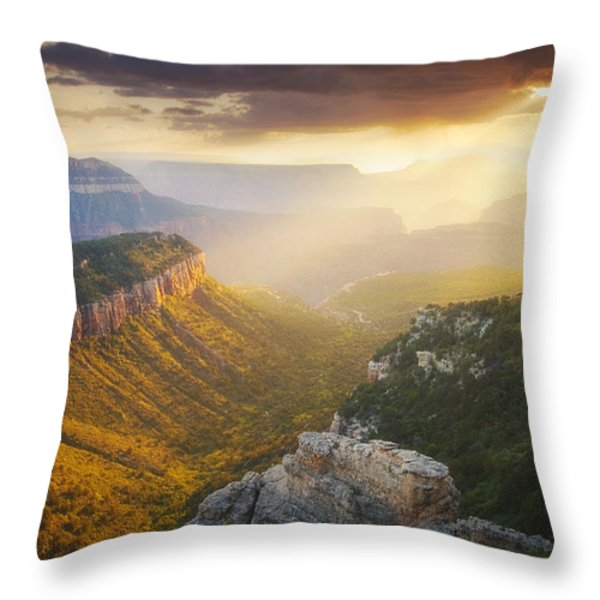 Glow of the Gods Throw Pillow by Peter Coskun