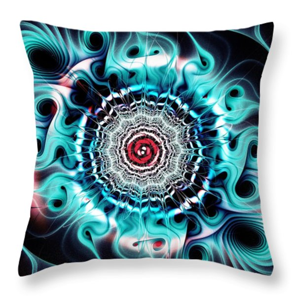Glowing Throw Pillow by Anastasiya Malakhova