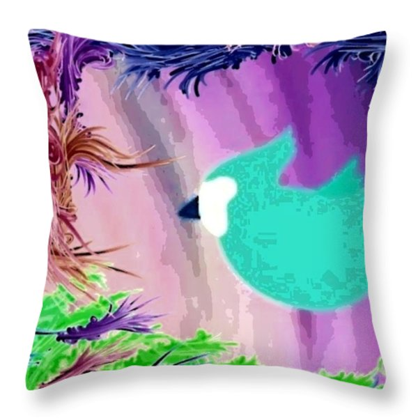 Glowing Throw Pillow by Caroline Gilmore