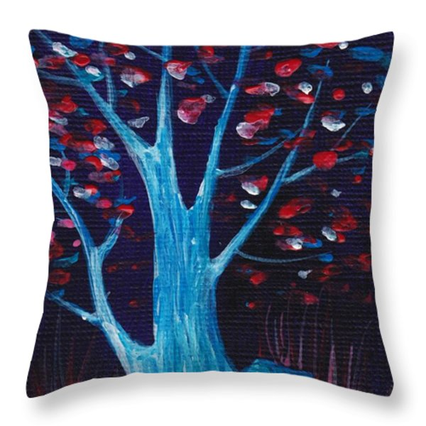 Glowing Night Throw Pillow by Anastasiya Malakhova