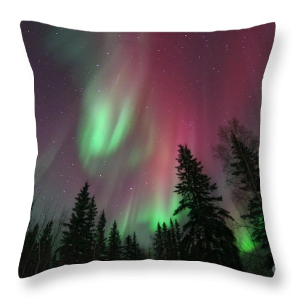 glowing skies Throw Pillow by Priska Wettstein