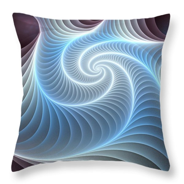 Glowing Spiral Throw Pillow by Anastasiya Malakhova