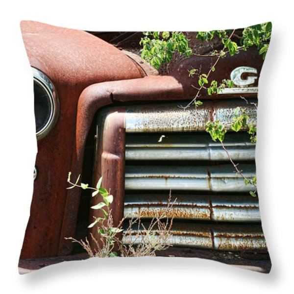 GMC Grill Work Throw Pillow by Kathy Clark