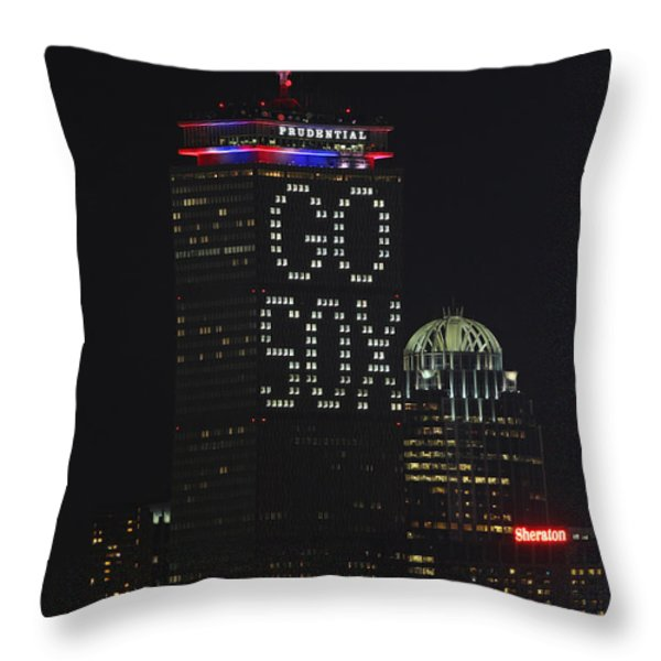 Go Boston Red Sox Throw Pillow by Juergen Roth