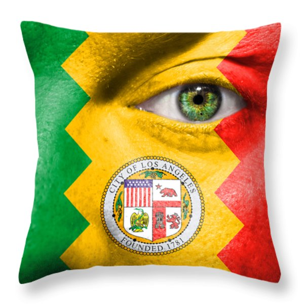 Go Los Angeles Throw Pillow by Semmick Photo