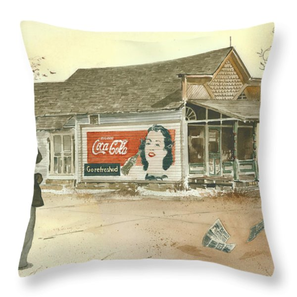 GO REFRESHED Throw Pillow by Monte Toon