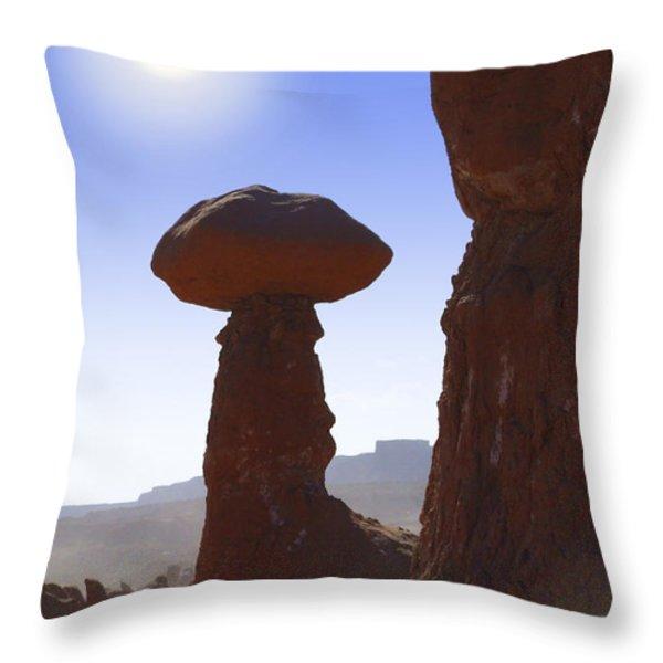 Goblin Valley State Park 2 - Utah Throw Pillow by Mike McGlothlen