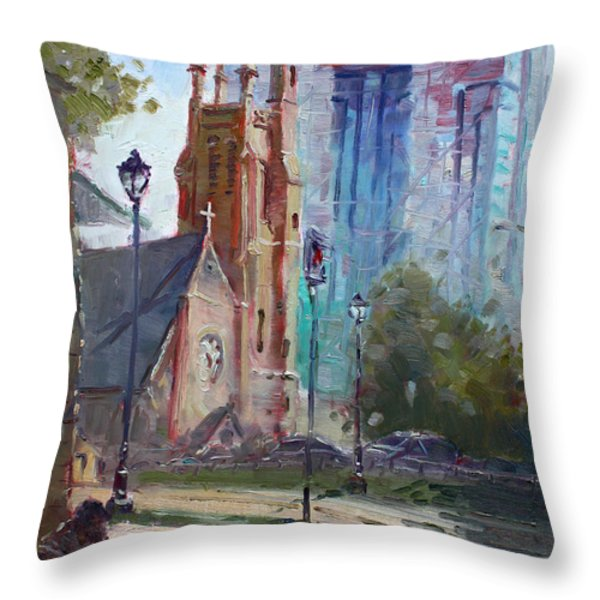 God And The Devil And I Throw Pillow by Ylli Haruni