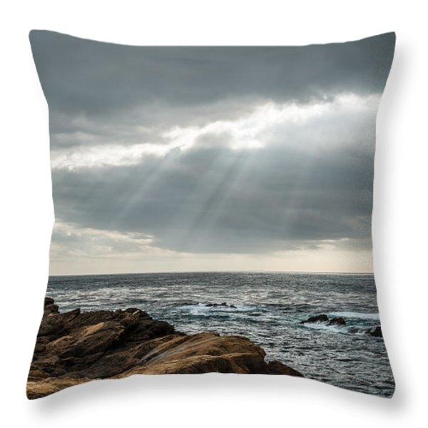 God Rays Throw Pillow by George Buxbaum