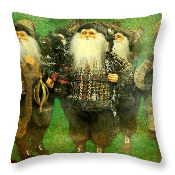 God Rest Ye Merry Gentlemen Throw Pillow by Diana Angstadt