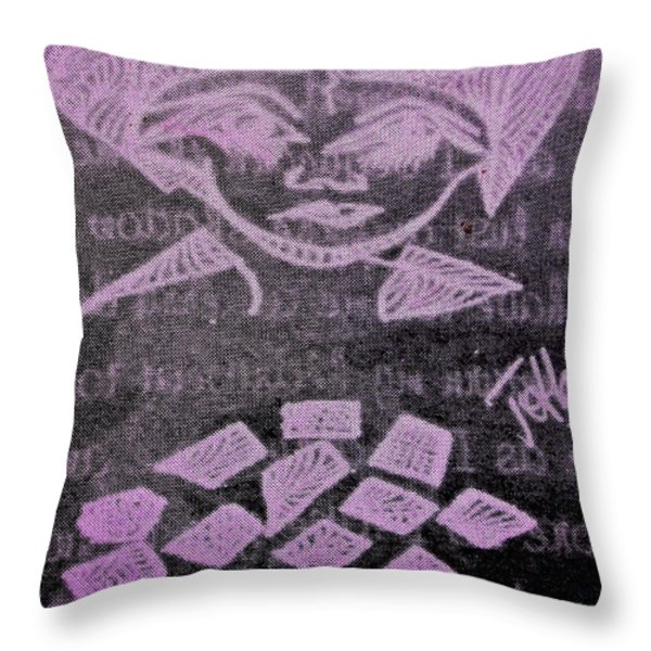 Goddess Archetype Of Magic Wishes Throw Pillow by Lady Picasso Tetka Rhu