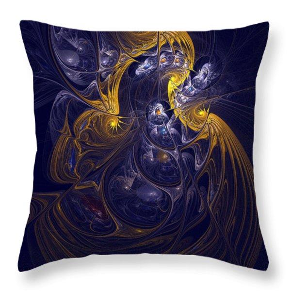 Goddess Of Healing Energy Throw Pillow by Deborah Benoit