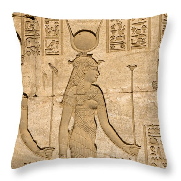Goddess of Love Throw Pillow by Brenda Kean